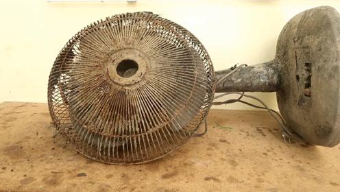 废旧老式电风扇别扔,看农民怎样翻新的,瞬间变成抢手货