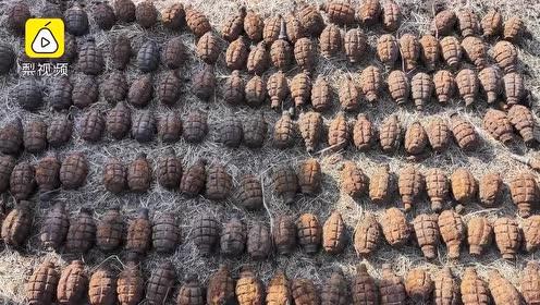 马背警队发现186枚二战遗留弹药,部分引信保存完好