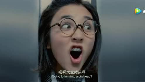 当电梯关门的一刹那!美女竟用头把门卡住?这神操作厉害了