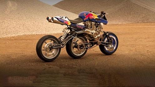 奇特的三轮摩托车,3个车轮呈直线排列,怎么骑也不会倒