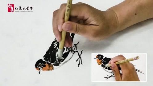 南开张永敬教授演示国画家燕的画法 讲解细致 建议收藏学习