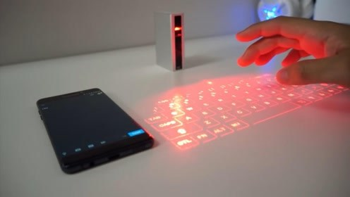一个没有按键的键盘,个头仅手掌大小,外出办公不用带电脑了?
