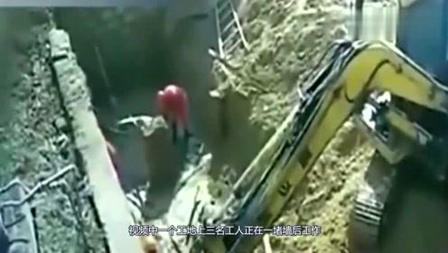 三人瞬间被活埋,工人正在埋头苦干,还没来得及反应就丢掉性命
