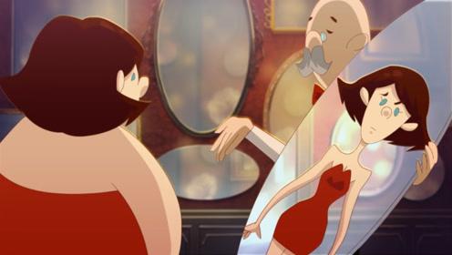"""200斤肥婆买了""""显瘦""""镜子回家,却突生变故,被镜中人取代!"""