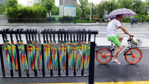 共享雨伞大量丢失,为何投资人却很开心?你不看看伞上写着什么