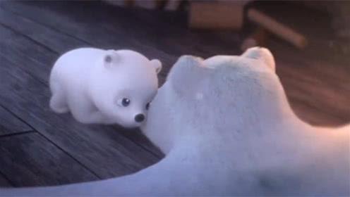 小北极熊睡醒了找妈妈,历经艰难躲过危机,最后却只发现一张皮!
