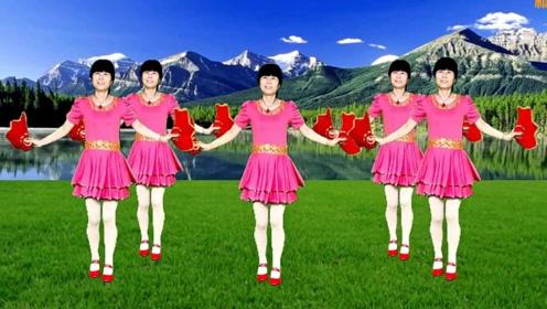 超好看的32步广场舞《一起走天涯》简单手绢舞快乐舞起来