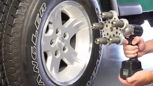 """23岁小伙发明""""换轮胎""""神器,换轮胎只需3秒,工人爱不释手"""