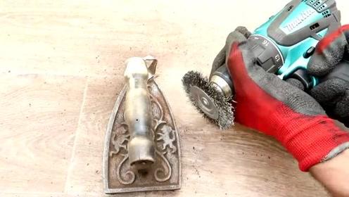 旧物修复,旧物翻新:生锈的旧铁器修复,一顿操作猛如虎,还我包浆