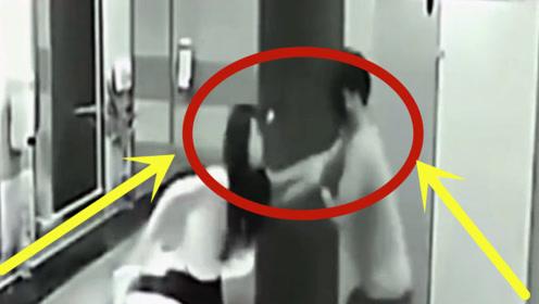 长腿美女上公厕遇到口罩男,结局让人意想不到,监控拍下精彩时刻!