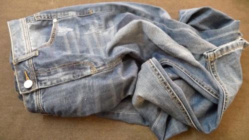 一生受用的裤子新叠法,收纳衣柜整齐省空间,方法看看就能学会