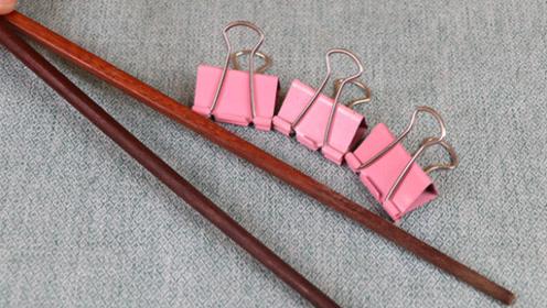 长尾夹上粘2根筷子,作用太棒了,真厉害,邻居见了纷纷学