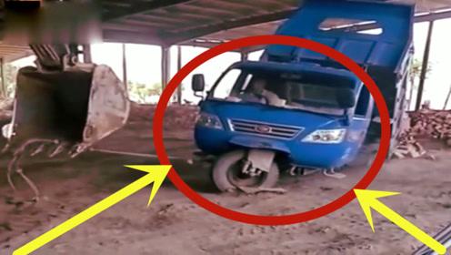 坑惨了!这个货车承受着不该承受的重量,调看监控老板欲哭无泪!
