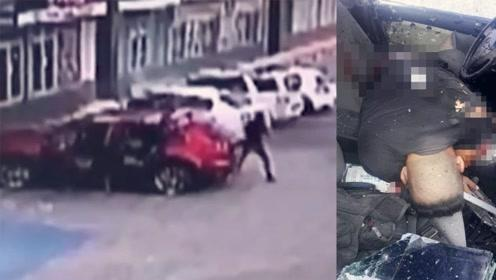 警察遭毒贩30秒疯狂射击 现场留下155枚弹壳