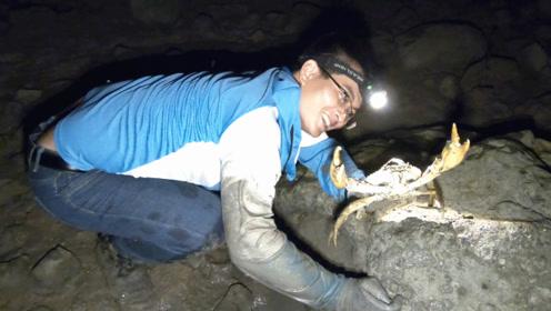 渔夫赶海专挑老螃蟹洞,越有难度,挖出的螃蟹越大!
