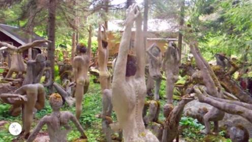 世界上最诡异的公园到处都是吓人的雕像,白天进去都脊背发凉