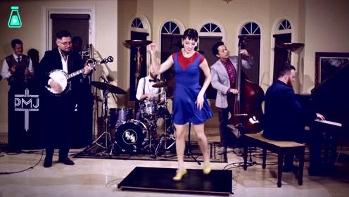 当马里奥主题曲遇上快乐的踢踏舞,小姐姐这舞姿真是太有活力了
