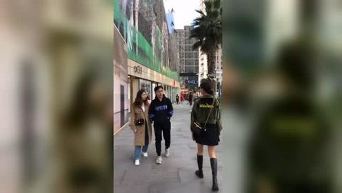老公每次上街,就喜欢偷瞄妹子,今天老娘就成全他,让他看个够