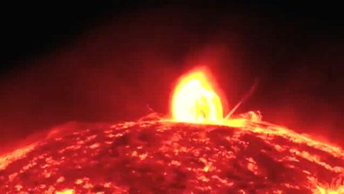 太阳爆发,产生了日冕物质抛射和太阳耀斑,之后又发生了日冕降雨