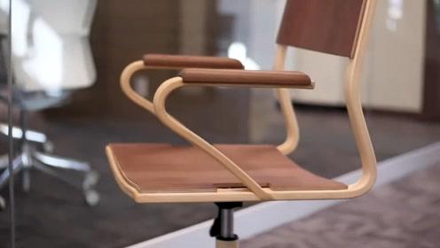 男子制作了一把办公椅,这手艺高超,太惊艳,好想要一把