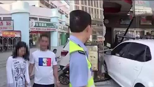 惊心动魄!东莞一女司机倒车一脚油门冲进便利店:上个月刚拿驾照