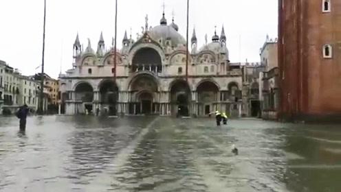 大半个威尼斯城被淹 许多著名旅游景点被淹没