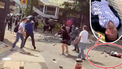 """香港七旬老人疑遭暴徒持砖砸中离世,港警改列""""谋杀案""""处理"""