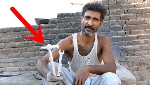 大叔翻砂铸造铝扳手,手艺还不错,就是这铝造的工具能用吗?