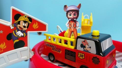 舒克贝塔:遇到火警请消防车来帮忙