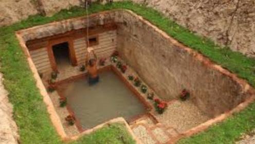 """男子地下挖出一栋""""豪华别墅"""",钻进去一看,简直不要太舒爽!"""