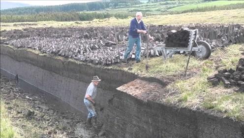 苏格兰家喻户晓的泥炭,开采过程居然是这样,强迫症福利