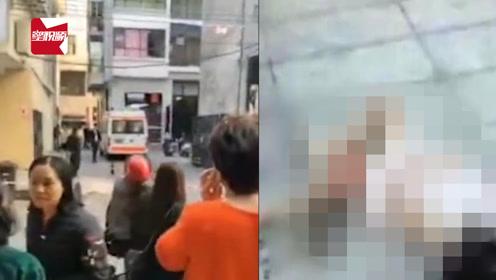 广东肇庆一女子从高楼坠亡,砸中俩小孩致1死1伤