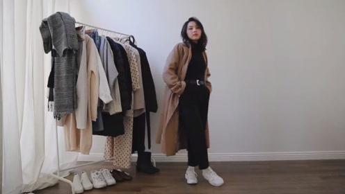 时尚博主冬季穿搭look 保暖显瘦不失时尚感
