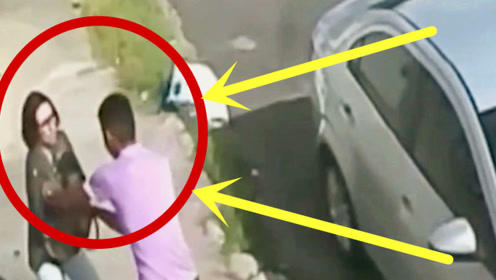 女子死拽住包不放,被男子扇数耳光后拖进盲区,监控拍下绝望30秒!
