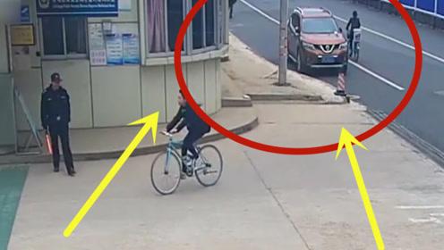 少妇骑车被撞,豪车男子下车后的做法,简直超乎想象!