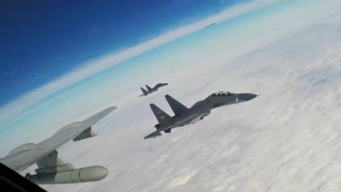 首次公布!空军发布轰-6K在国际空域排除外机干扰影音