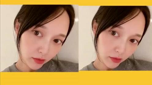 唐嫣晒自拍视频孕味足 甜美wink笑问想我了吗?