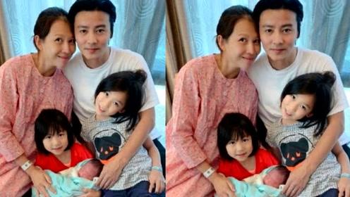 张晋晒全家福宣布蔡少芬三胎产子!儿子正脸曝光,取名张乐儿