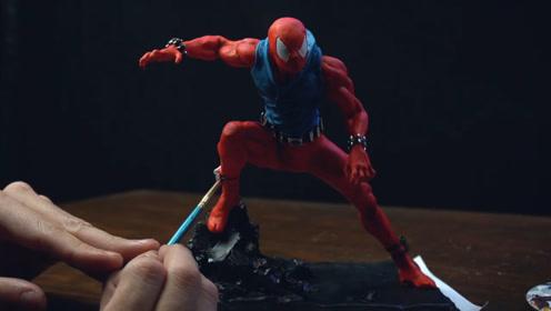 手办制作秀:用软泥打造一个猩红蜘蛛侠,帅气吗?