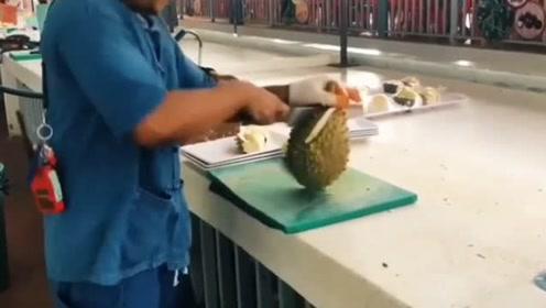 这是我见过最土豪的榴莲吃法了,这也太奢侈了!