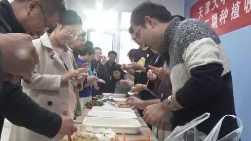 """真种""""草""""!天津大学开展劳动教育:学生下地种白菜包饺子"""