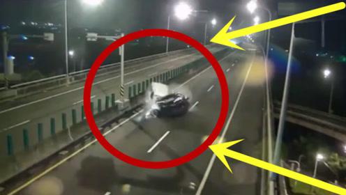 轿车高速逆行,3秒后瞬间成一堆废铁,监控拍下可怕一幕!
