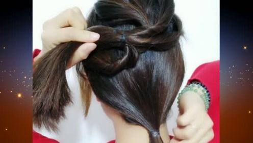 漂亮的小姐姐,秋冬季节不妨试试这样的扎发发型,让你更显优雅动人