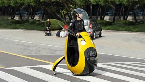 奇葩的电动车,外形酷似一个鸭蛋,体积小巧不怕堵车