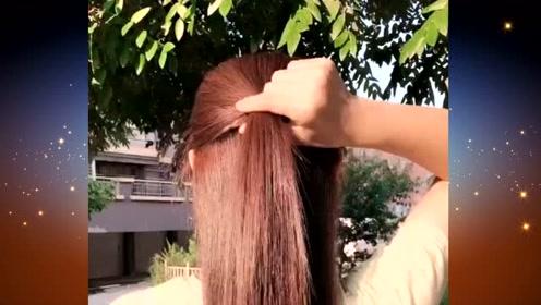 这样的扎发发型,简约优雅又大方,任何人扎都适合哦