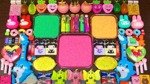 创意史莱姆教程,米粒泥+彩虹水晶泥+菠萝果冻泥,好玩又解压