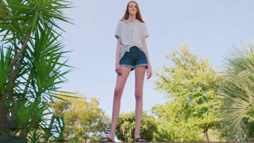 腿比世界纪录保持者还长!俄罗斯姑娘腿长134.5厘米,又高又瘦