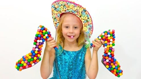 用棉花糖拼成的鞋子,女孩卖给哥哥姐姐,收获了好多宝贝!