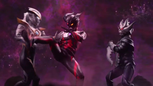 银河奥特格斗新生代杀手罗布奥特曼完虐黑暗赛罗和黑暗夜空!用电影中最亮的星做英雄的微插曲图片