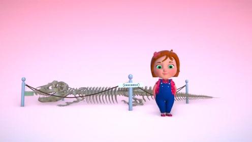 女孩到博物馆参观,不小心碰碎了恐龙化石,自己动手把恐龙变成了鳄鱼!